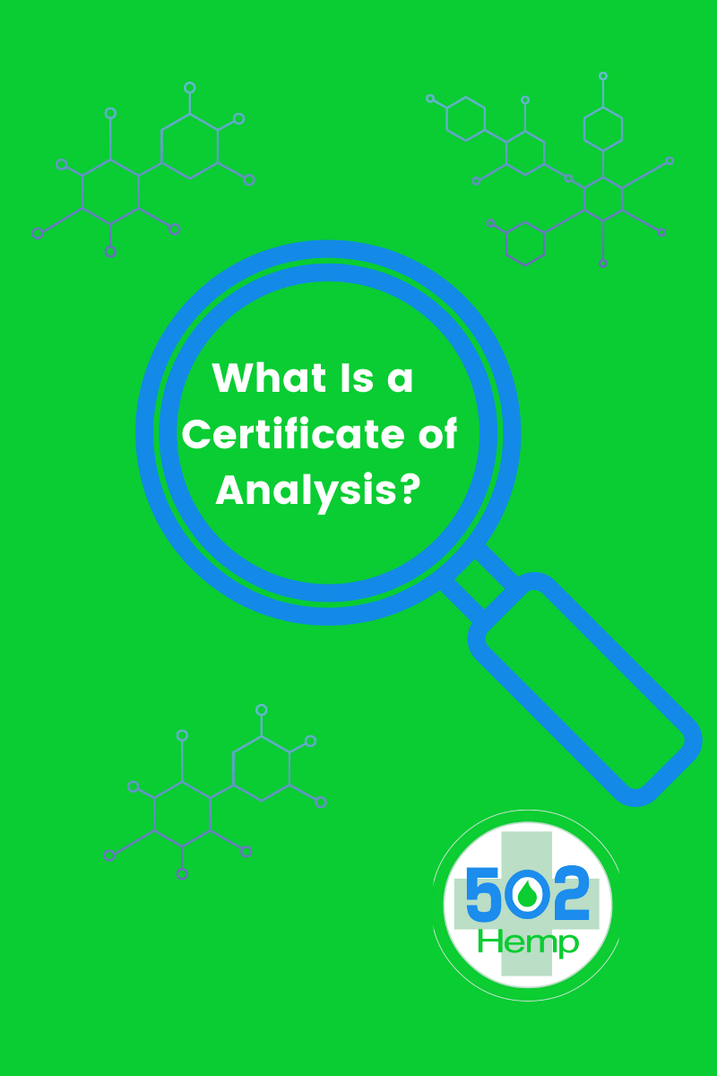 What is a certificate of analysis? 502 Hemp Image