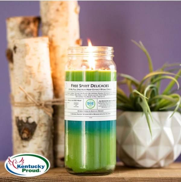 Natural Hemp candle
