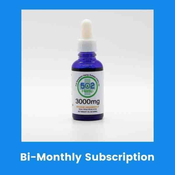 Clinical Strength 3000 mg CBD Bi Monthly Subscription