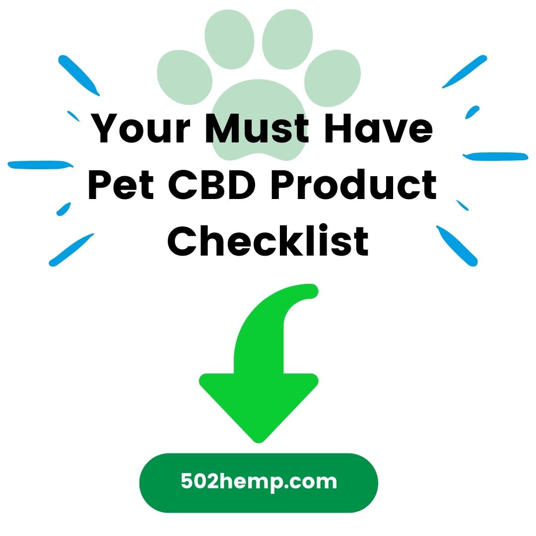 Your Must Have Pet CBD Product Checklist