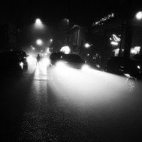 Foggy Night on Frenchmen Street, Faubourg Marigny, New Orleans, December 7, 2012
