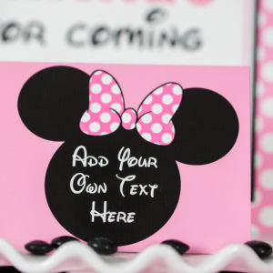 Pink Minnie Mouse Favor Tags 505 Design Inc