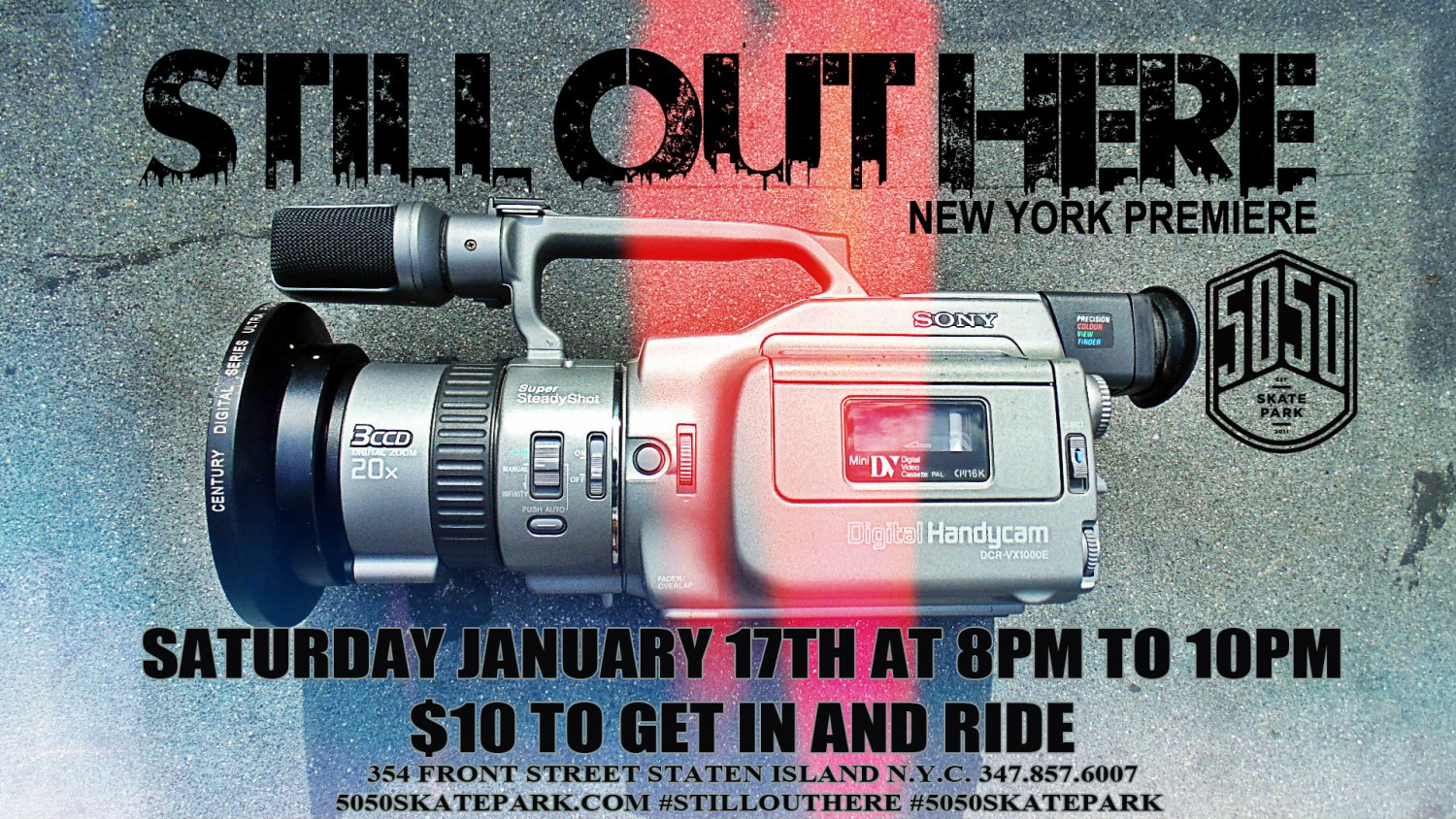 Still Out Here 5050 Skatepark New York Flyer jpg