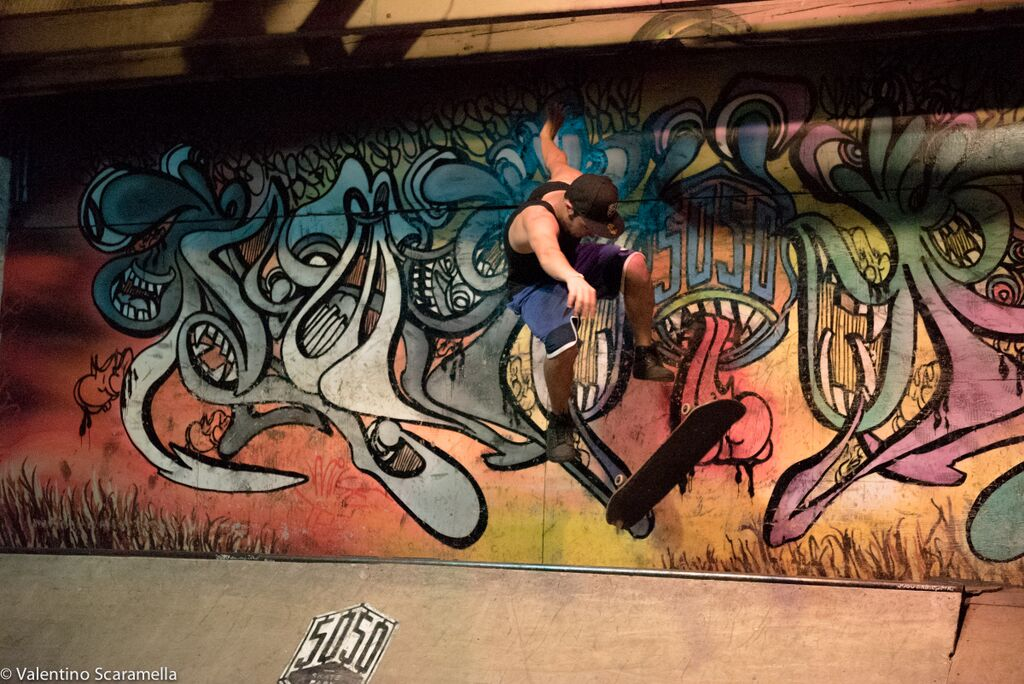 Kick flip by Skater at 5050 Skatepark 2015 photo Valentino Scaramella