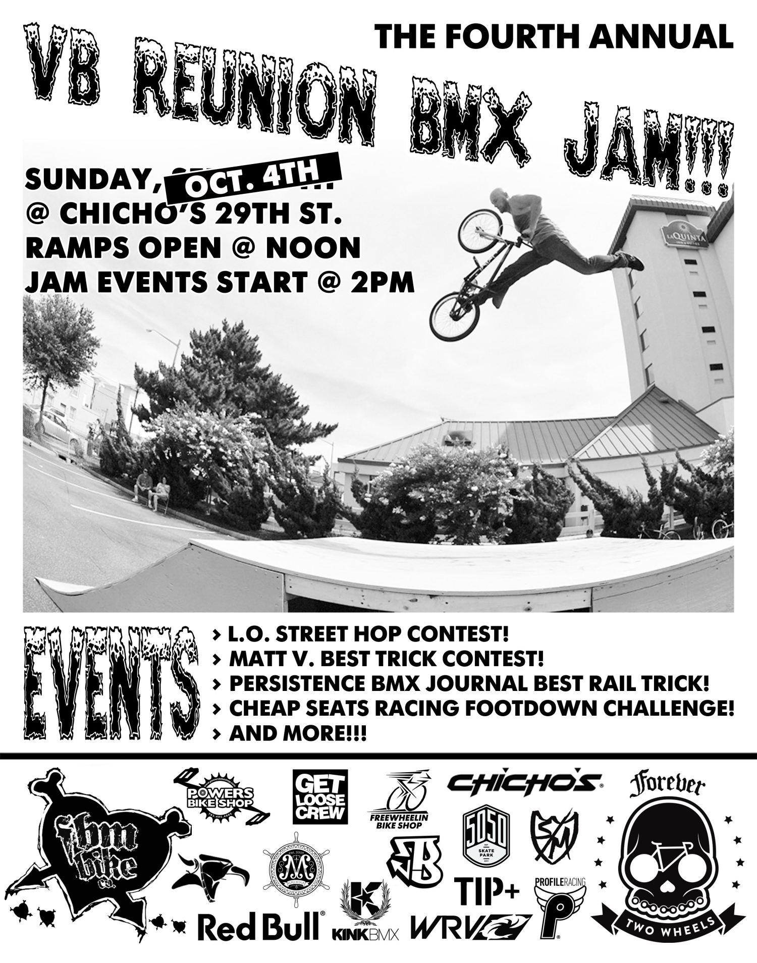 new flyer for VABMX Reunion Jam.