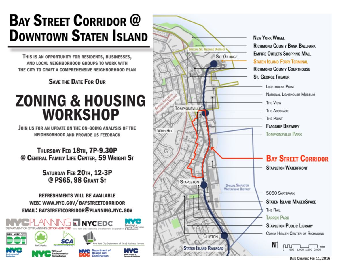 Bay Street Corridor Work Shop