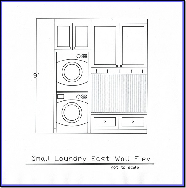 Laundry elevation