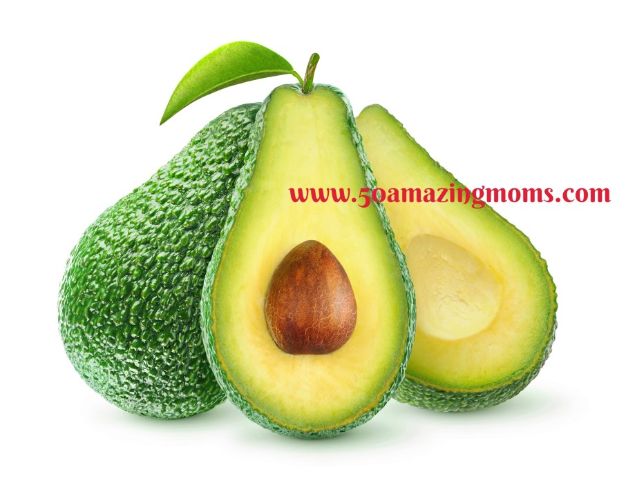 Fresh avocado fruits isolated on white, with clipping path