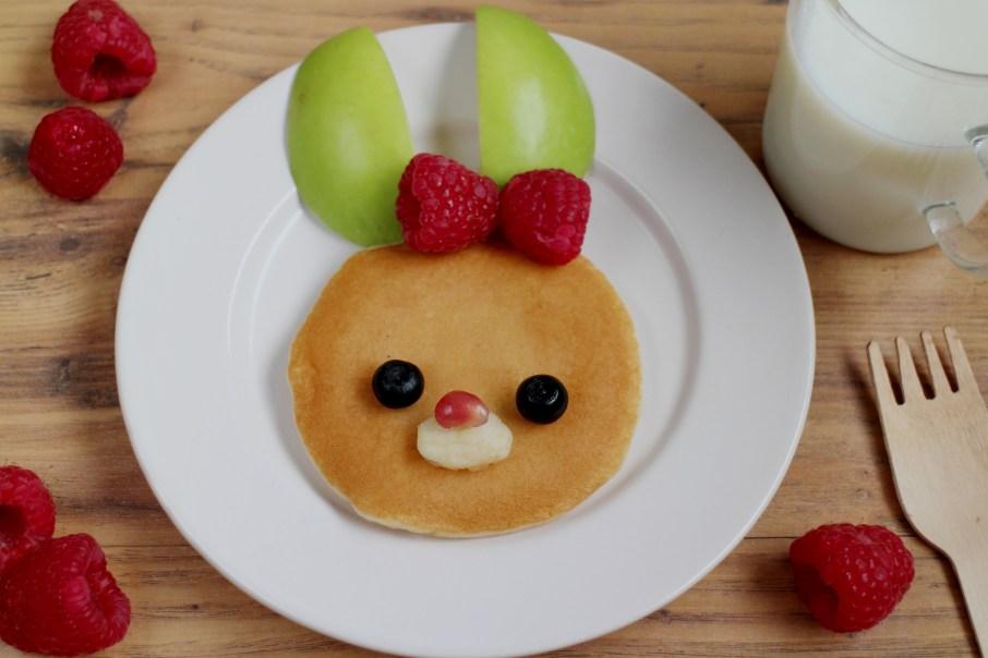 Cute kids food ideas bunny pancake