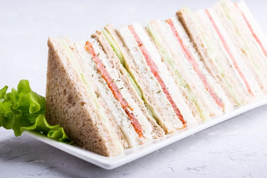 English tea sandwiches platter