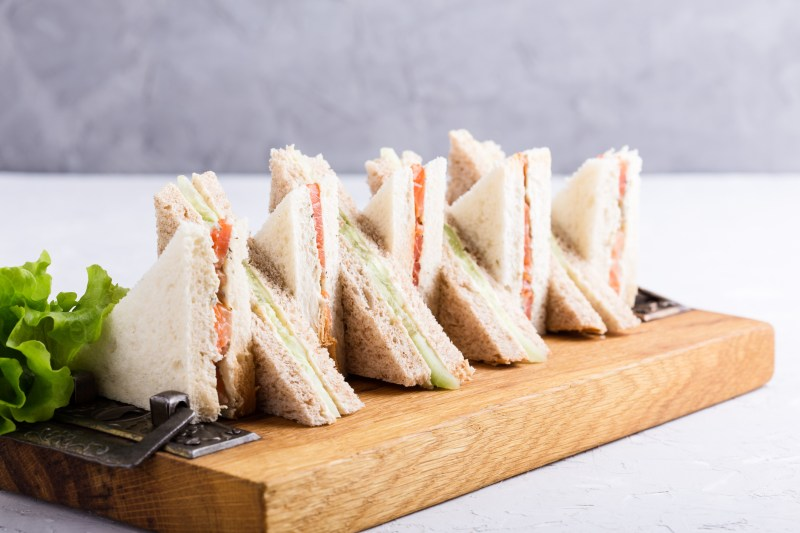 English tea sandwiches platter