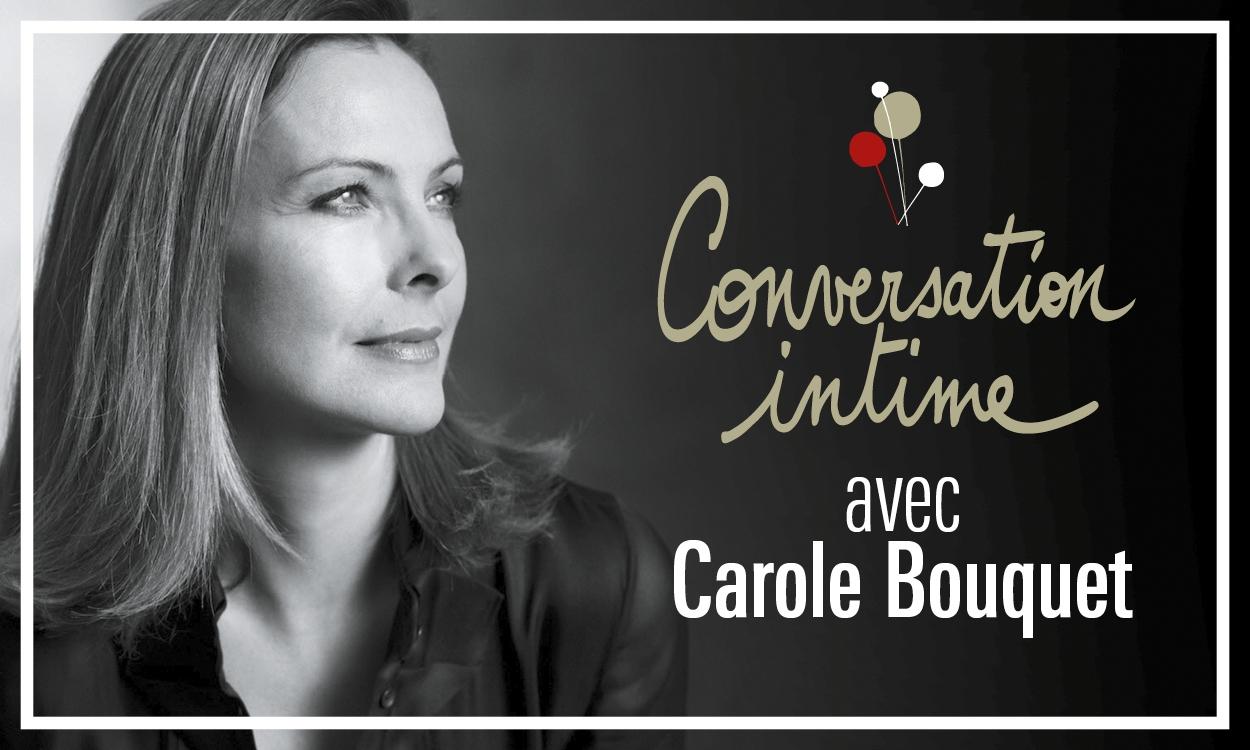 Conversation intime théâtre national de Nice Carole Bouquet