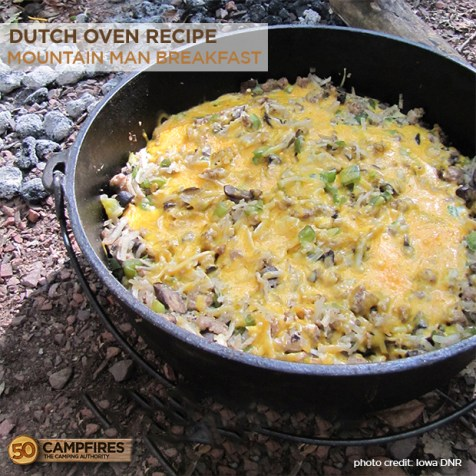 Dutch oven mountain man breakfast