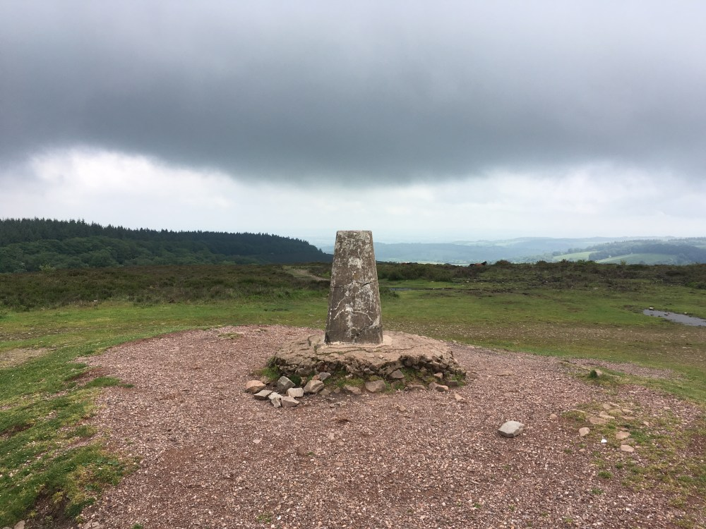 Wills Neck trig point - highest point in the Quantock Hills