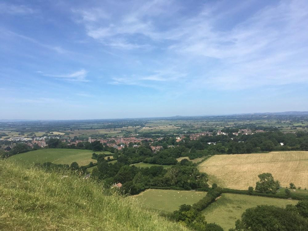 View from Glastonbury Tor, LEJoG Day 21