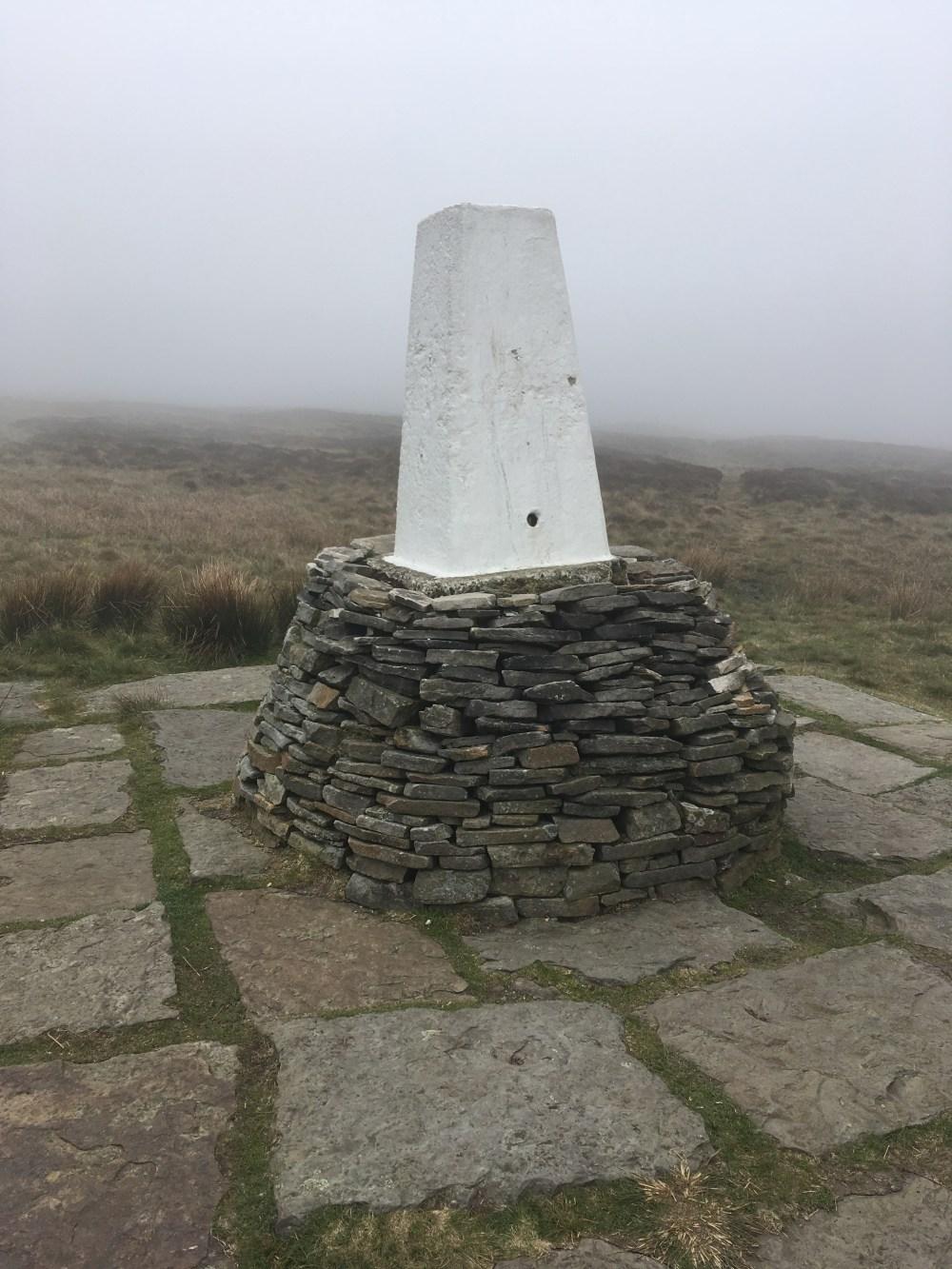 Black Hill trig - The fog, LEJoG Day 41
