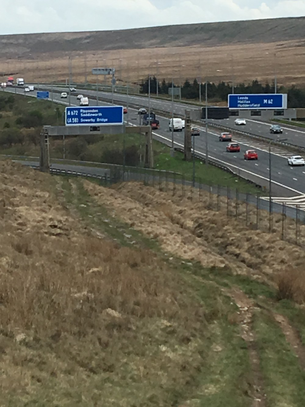 M62 from north, Day 42