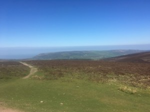 Looking from Dunkery Beacon, Exmoor, towards South Wales (Day 16)
