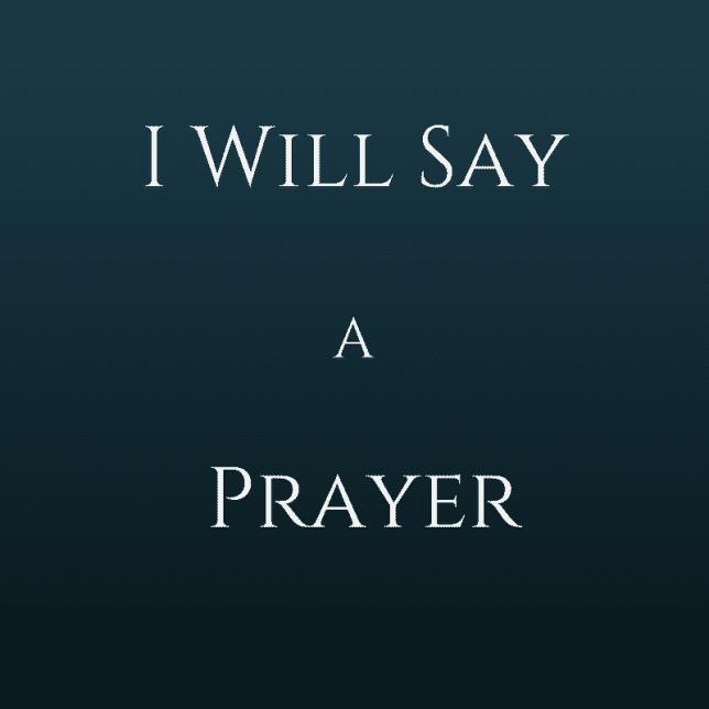 I Will Say