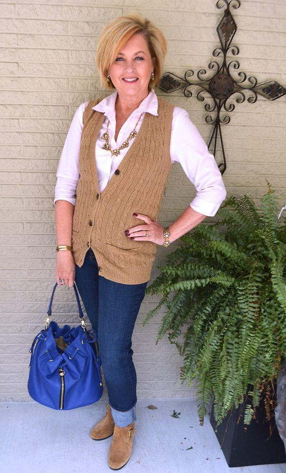 50 IS NOT OLD | CABLE KNIT SWEATER VEST