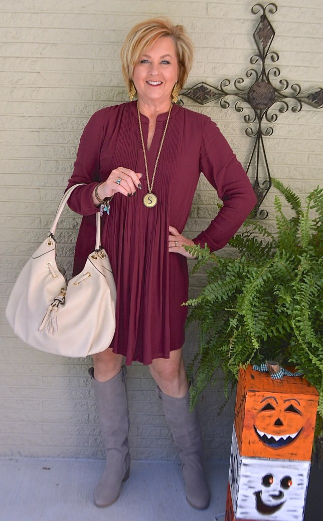50 IS NOT OLD | PINTUCKED SWING DRESS