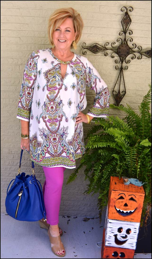 50 IS NOT OLD | TUNIC AND SKINNY PANTS