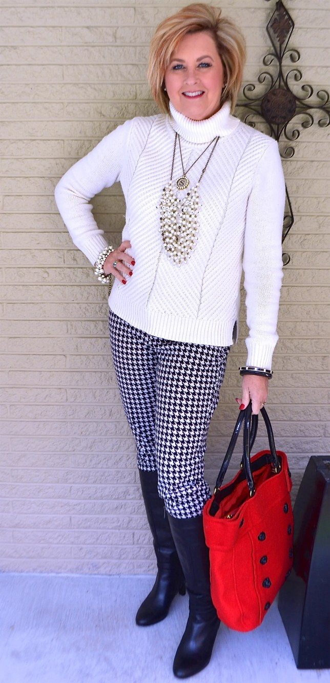 50 IS NOT OLD | HOUNDSTOOTH PANTS ARE CLASSIC