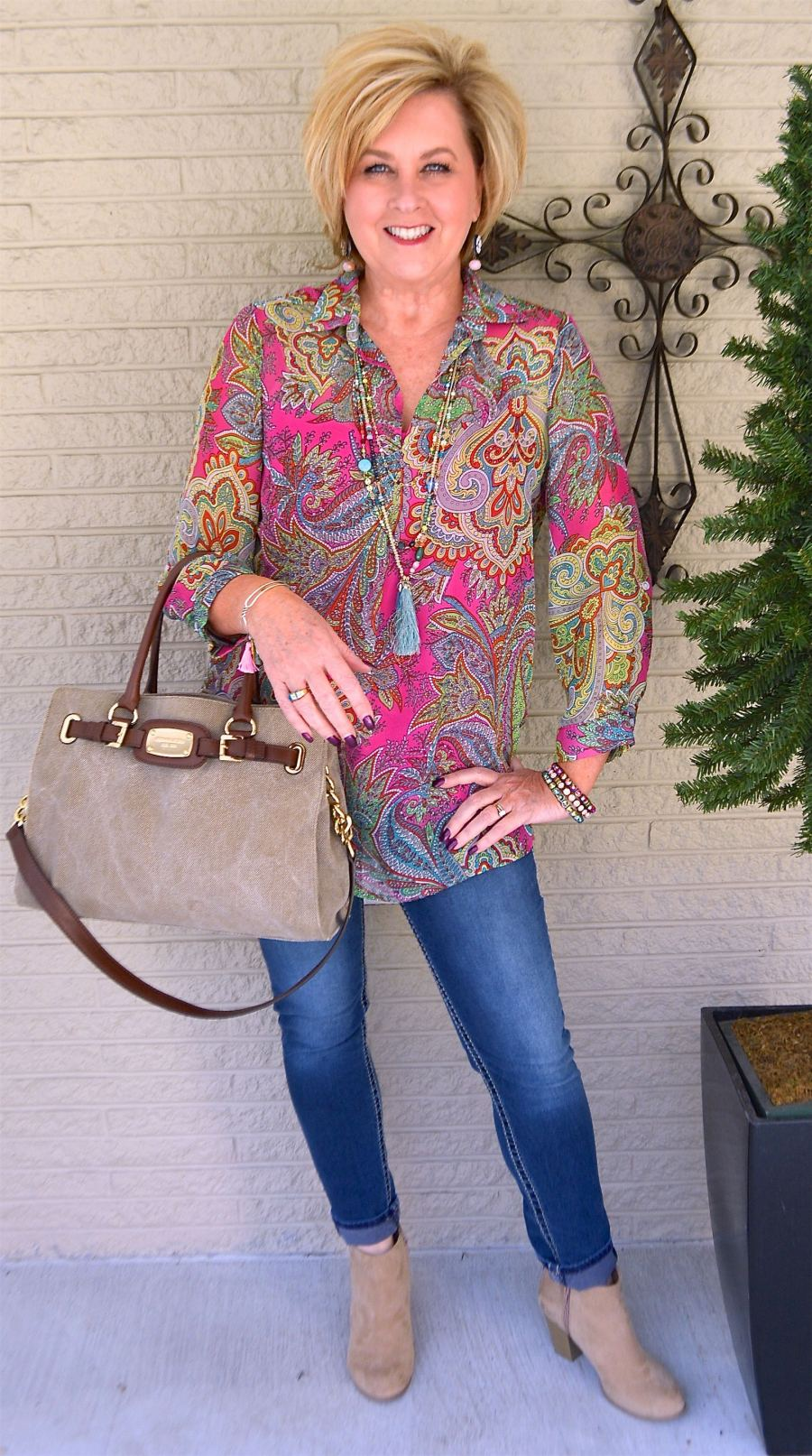 style for 57 year old woman how to wear bright colors 50 ...
