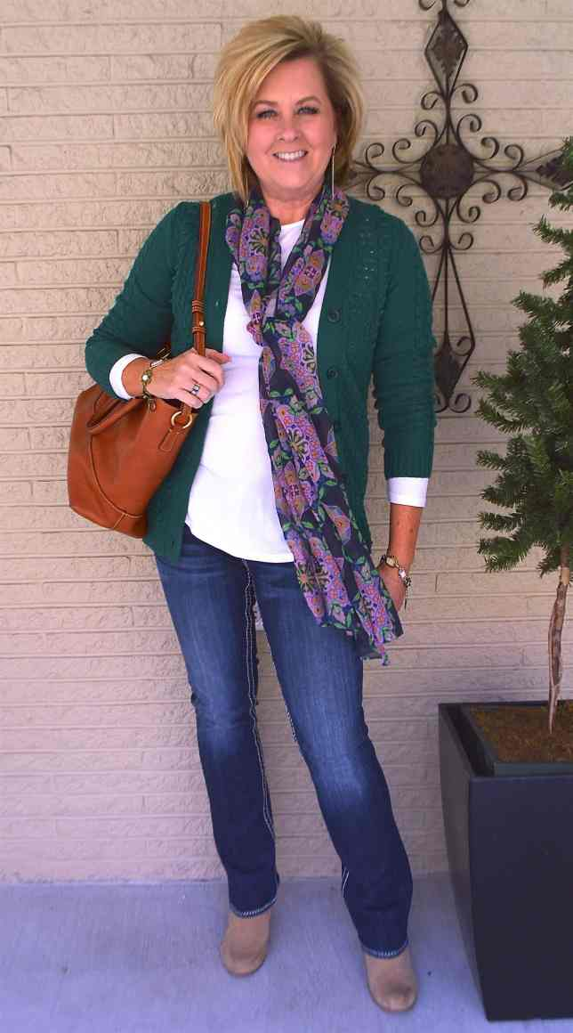 50 IS NOT OLD   GOING GREEN FOR SPRING   FASHION OVER 40