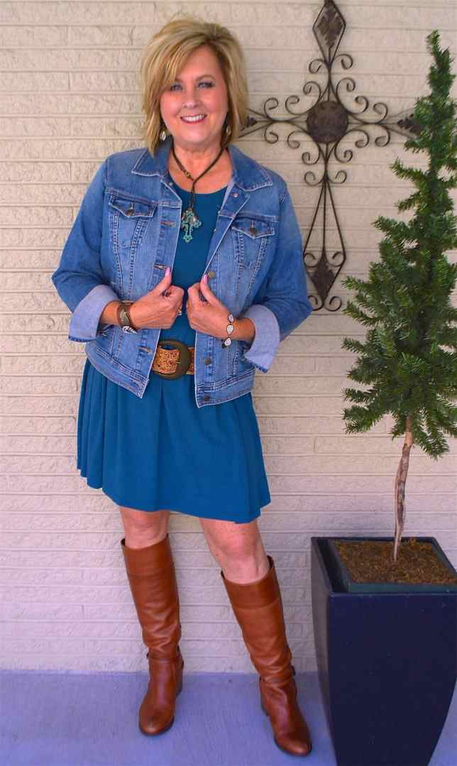 50 IS NOT OLD | HOW TO STYLE BOOTS WITH A DRESS | FASHION OVER 40