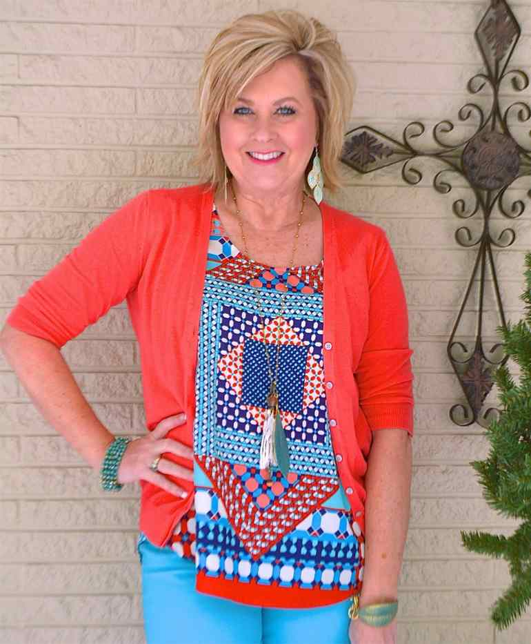 50 IS NOT OLD   BLUE AND ORANGE GO TOGETHER