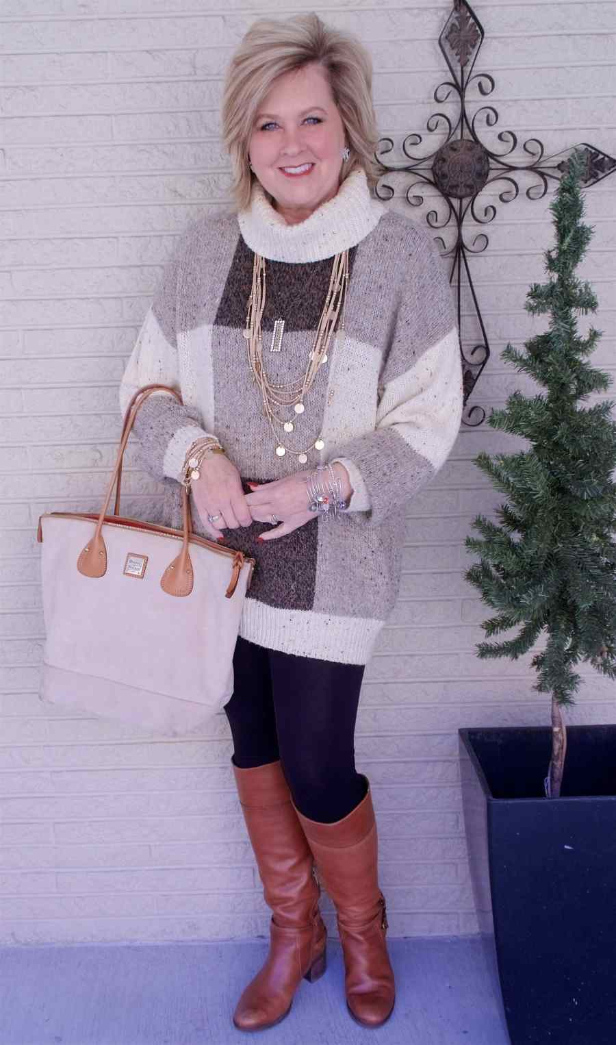 50 IS NOT OLD | HOW TO WEAR AN OVERSIZED SWEATER