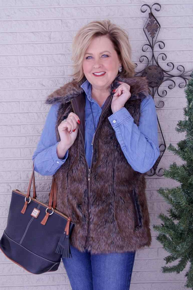50 IS NOT OLD | FAUX FUR FOR ADDED WARMTH