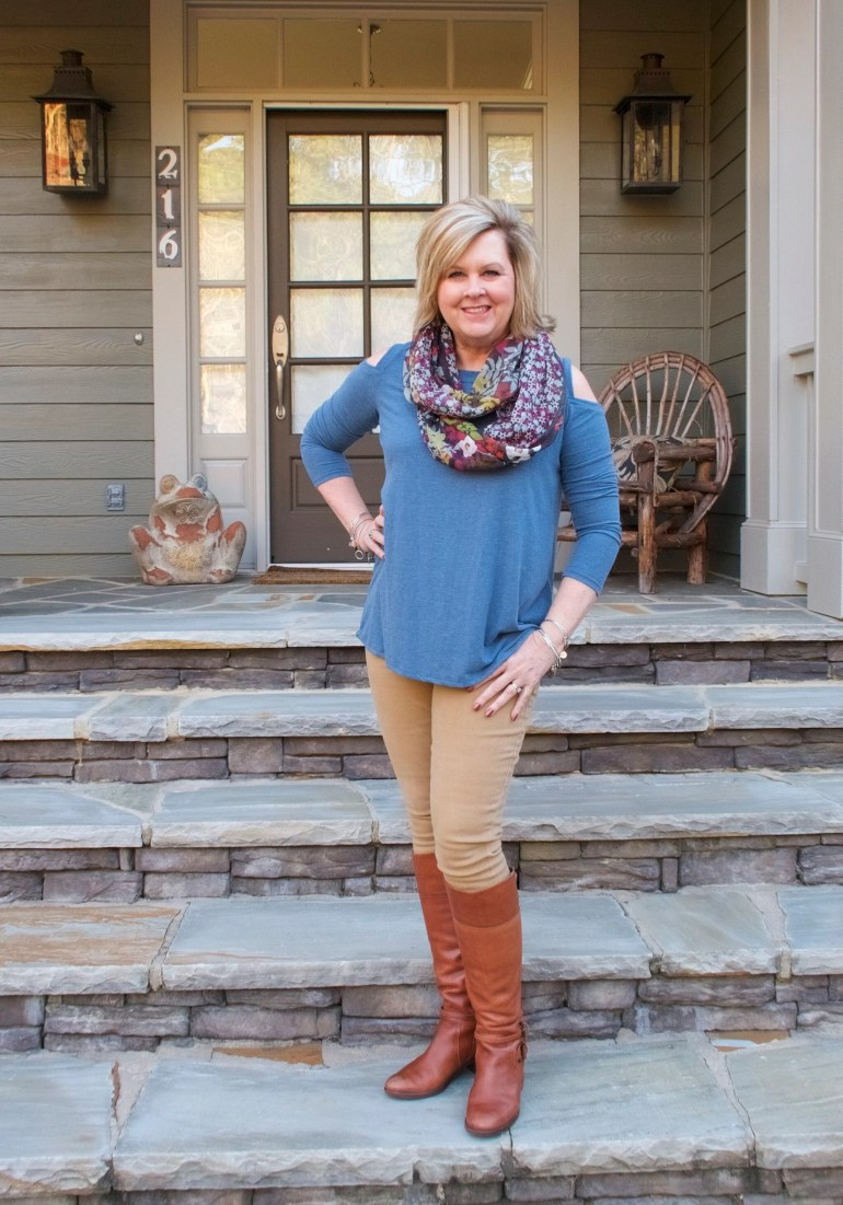 50 IS NOT OLD | SKINNY JEANS AND LEATHER BOOTS