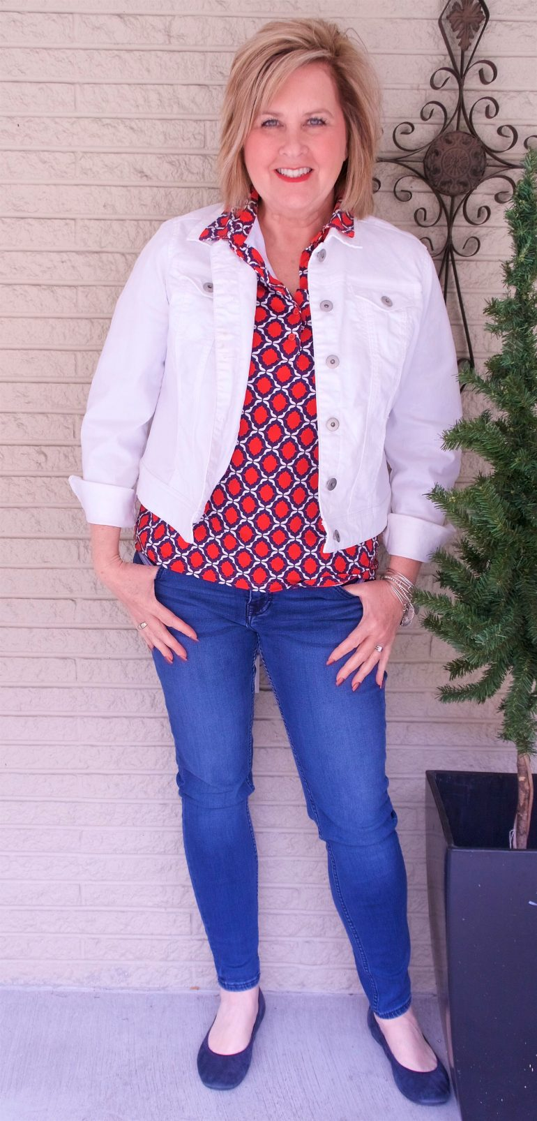 17d84d6ef9 50 IS NOT OLD | HOW TO WEAR A WHITE DENIM JACKET | FASHION OVER 40