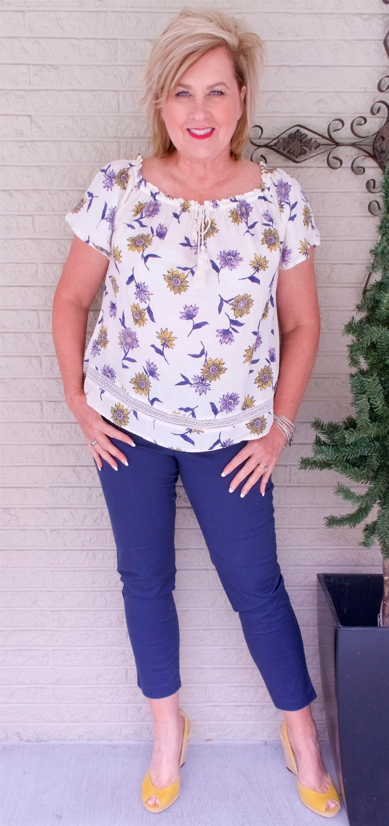 50 IS NOT OLD | A PEASANT TOP FOR SPRING | FASHION OVER 40