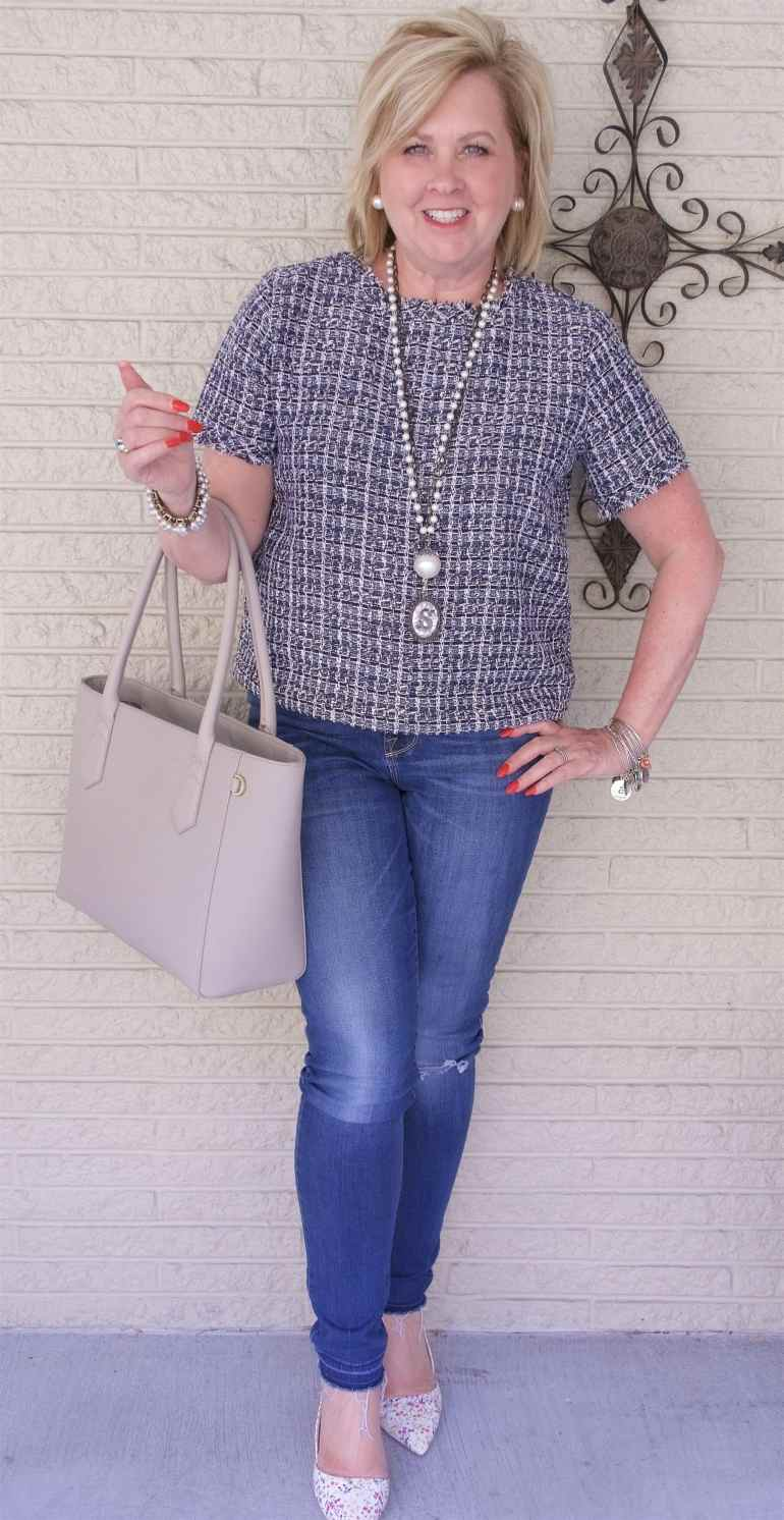 50 IS NOT OLD | STYLING A TWEED CROP TOP | FASHION OVER 40