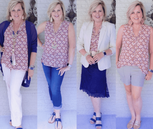 50 IS NOT OLD | SAME BLOUSE AND FOUR LOOKS | FASHION OVER 40