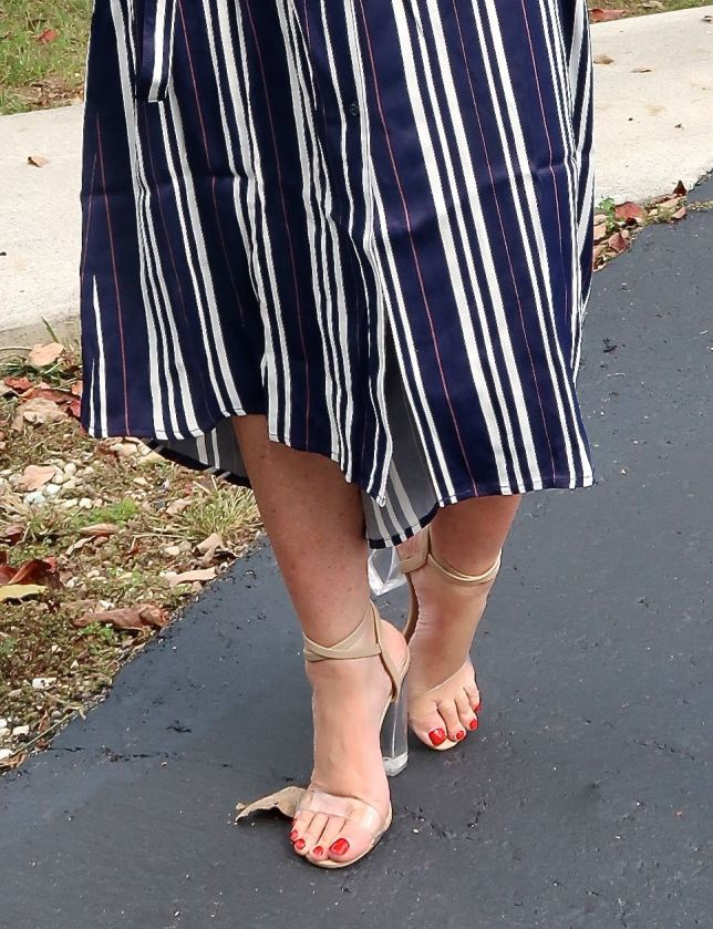 50 IS NOT OLD | CLASSIC STRIPED SHIRTDRESS | FASHION OVER 40