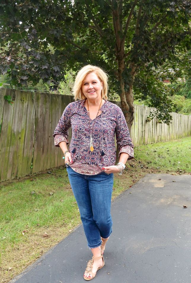 50 IS NOT OLD | CROP PANTS AND SANDALS | FASHION OVER 40