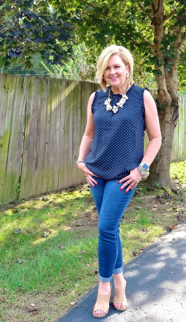 50 IS NOT OLD   POLKA DOTS ARE A FUN PRINT   FASHION OVER 40