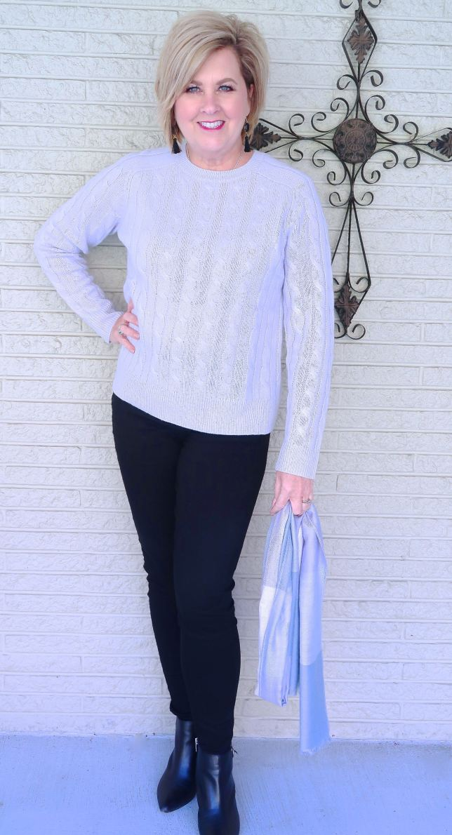 50 IS NOT OLD | A CLASSIC CASHMERE SWEATER | FASHION OVER 40