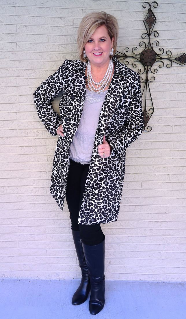 50 IS NOT OLD | A LEOPARD PRINT COAT HAS STYLE GALORE | FASHION OVER 40