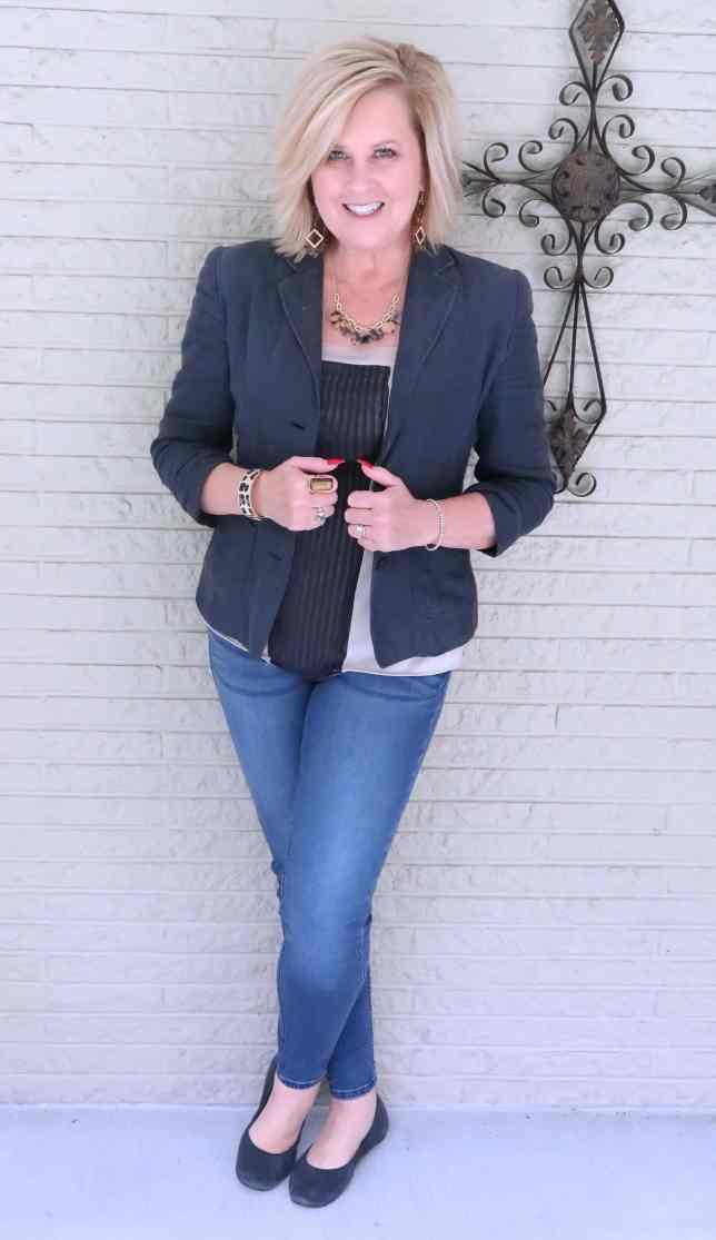 50 IS NOT OLD | A CLASSIC BLAZER AND JEANS | FASHION OVER 40