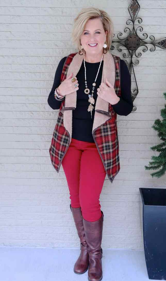 50 IS NOT OLD | SHERPA FOR WARMTH AND STYLE | FASHION OVER 40