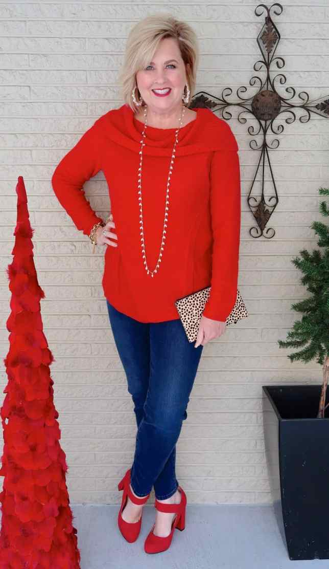 50 IS NOT OLD | WEARING RED FOR THE HOLIDAYS | FASHION OVER 40