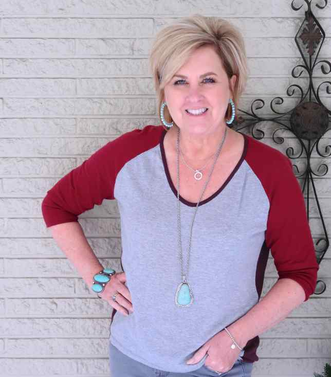 50 IS NOT OLD | COLOR BLOCKED BASEBALL TEE | FASHION OVER 40