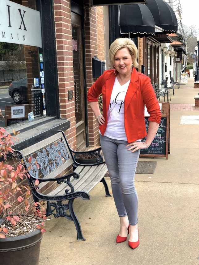 50 IS NOT OLD   CASUAL VALENTINE'S DAY OUTFIT   FASHION OVER 40