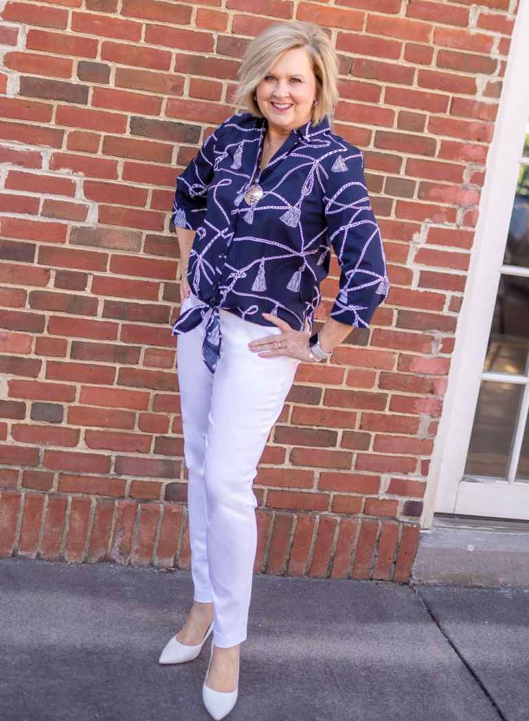 50 IS NOT OLD | SAILING AWAY WITH CHICOS OFF THE RACK | FASHION OVER 40