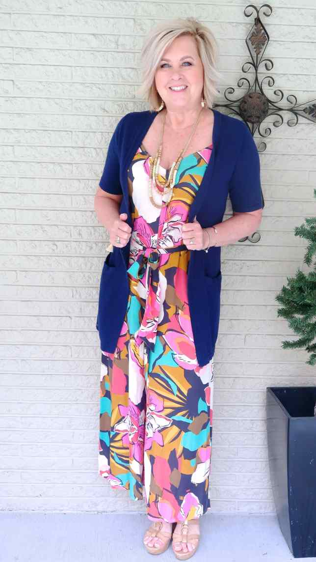50 IS NOT OLD | TROPICAL JUMPSUIT FOR A BEACH STYLE | FASHION OVER 40